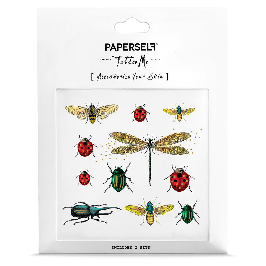 bugs temporary tattoo set of 2