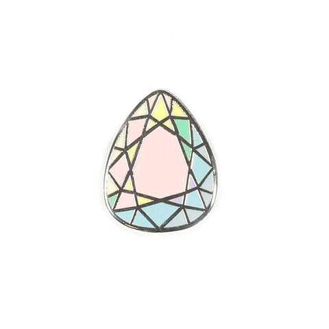 Pastel Jewel Shape Enamel Pin