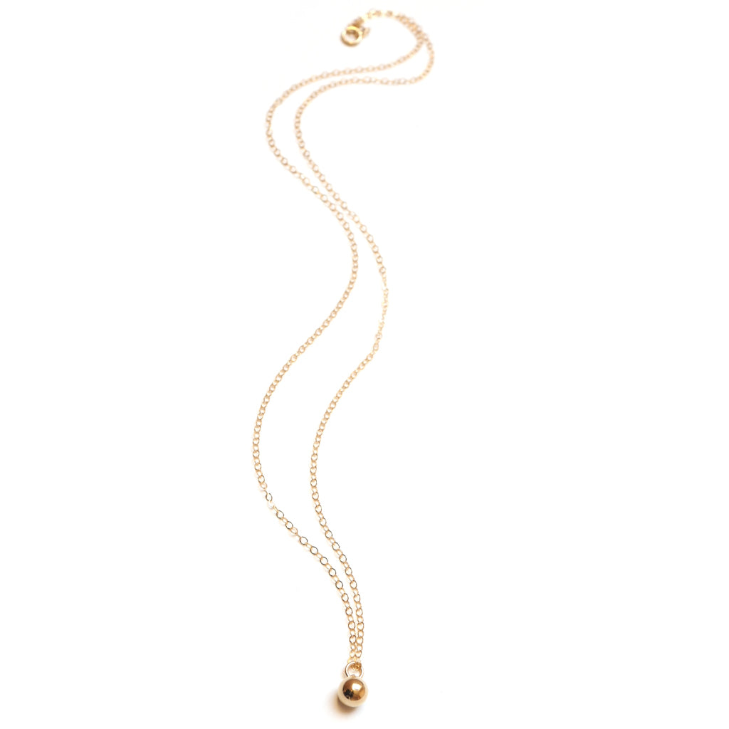 Gold Filled Petite Bauble Necklace Full Length