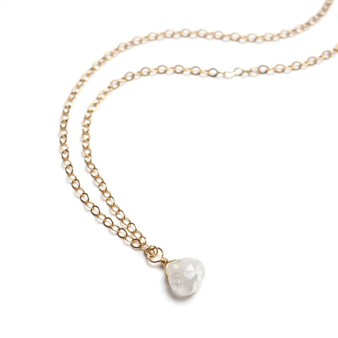 Main image of Petite Gemstone Necklace in Moonstone