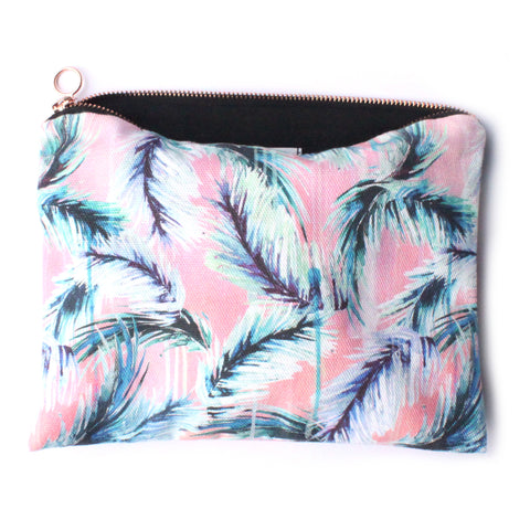 Pink Tropicana Fabric Travel Bag