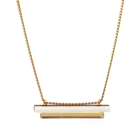 Plateau Pendant in Gold