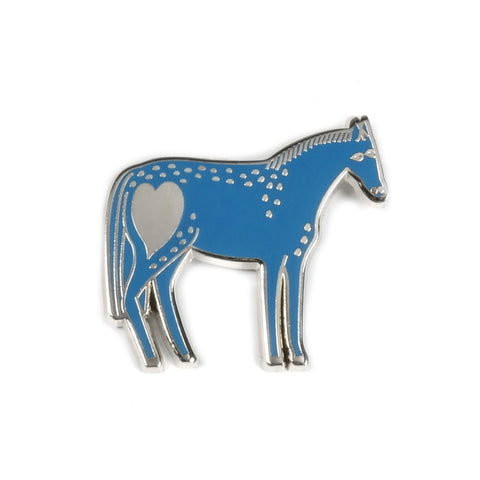 Enamel Pony Pin in Blue