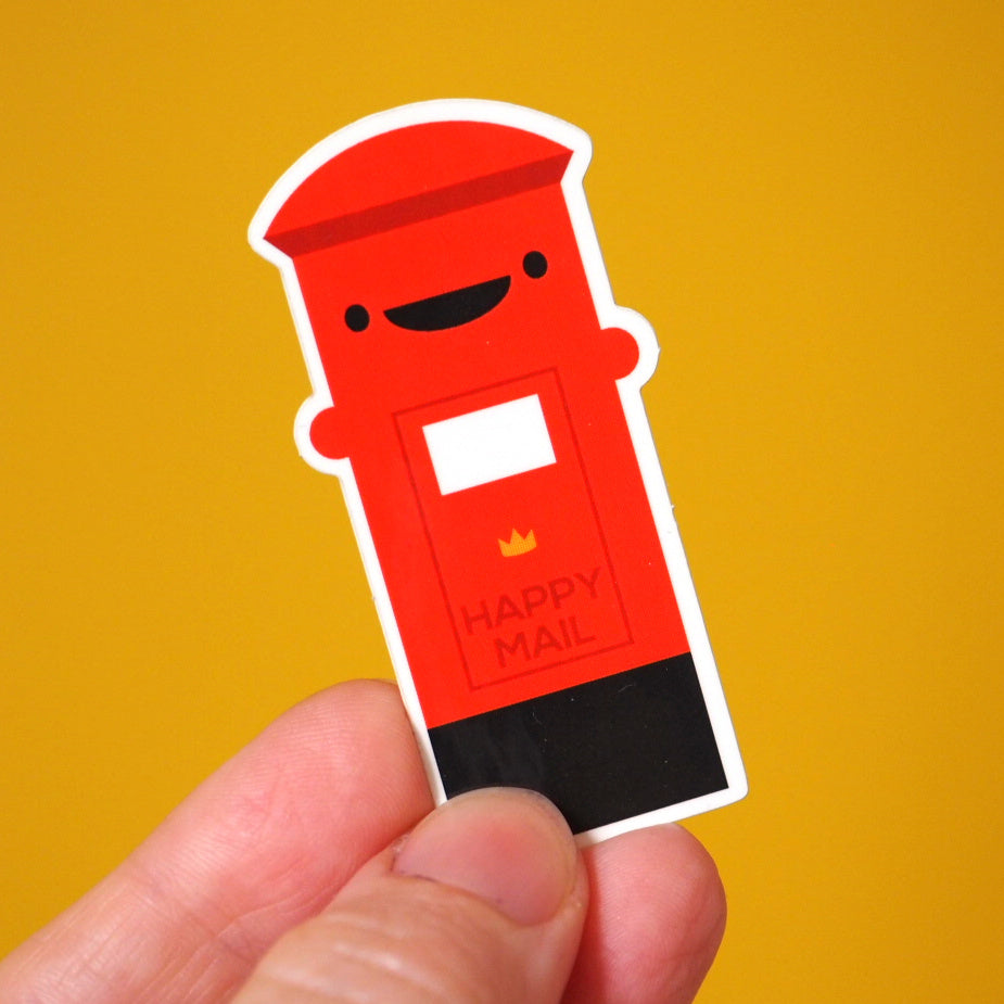 Happy Postbox Sticker