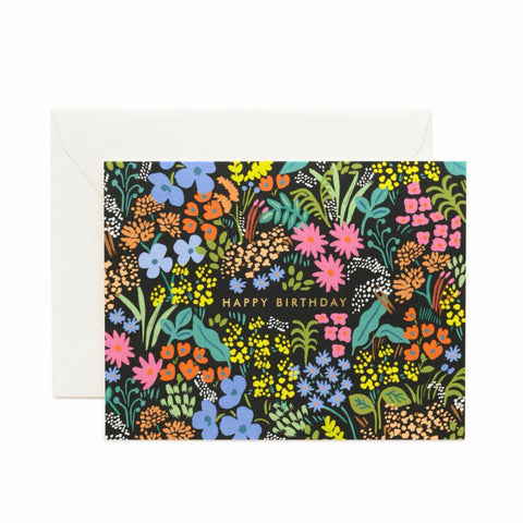 Rifle Paper Co. Meadow Birthday Card - pretty floral greeting card