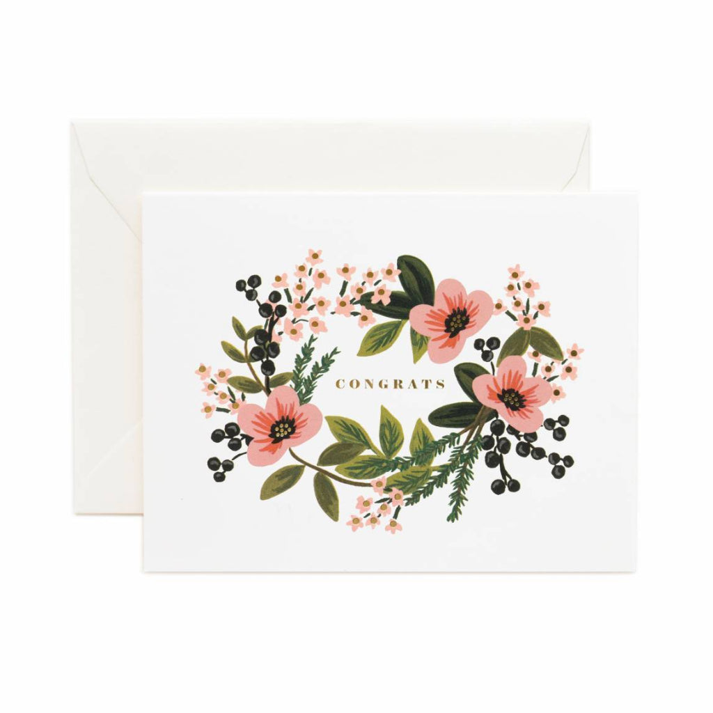 Rifle Paper Co. Congratulations Bouquet Card - floral congrats greeting card