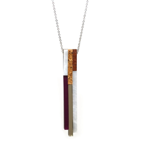 River Necklace in Plum