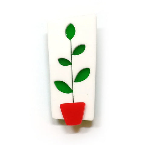 Rubber Plant Brooch