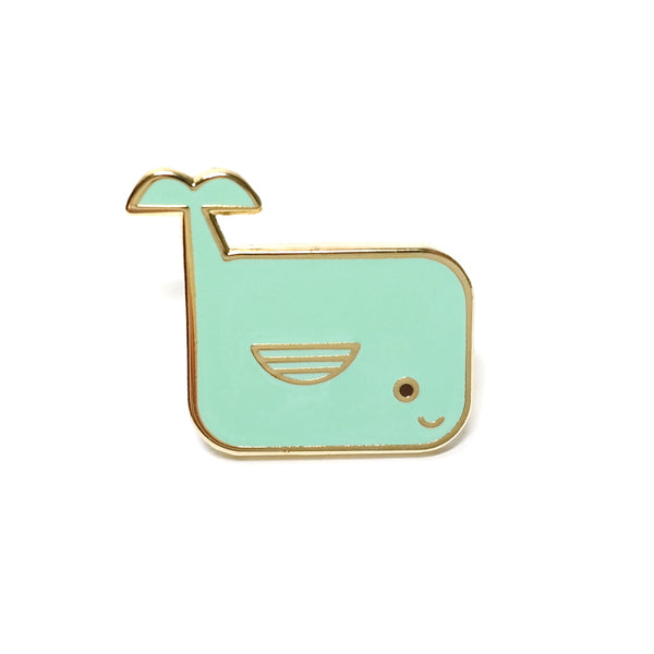 cute blue whale enamel pin brooch