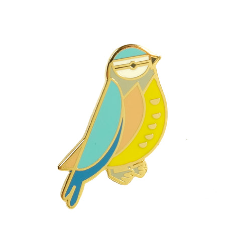 scout editions blue tit cute bird enamel pin badge