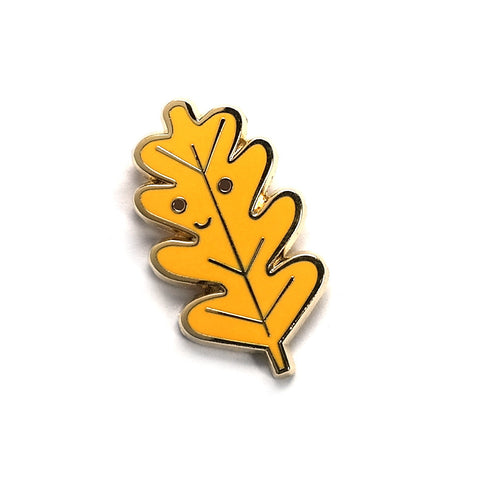 little happy leaf enamel pin by scout editions