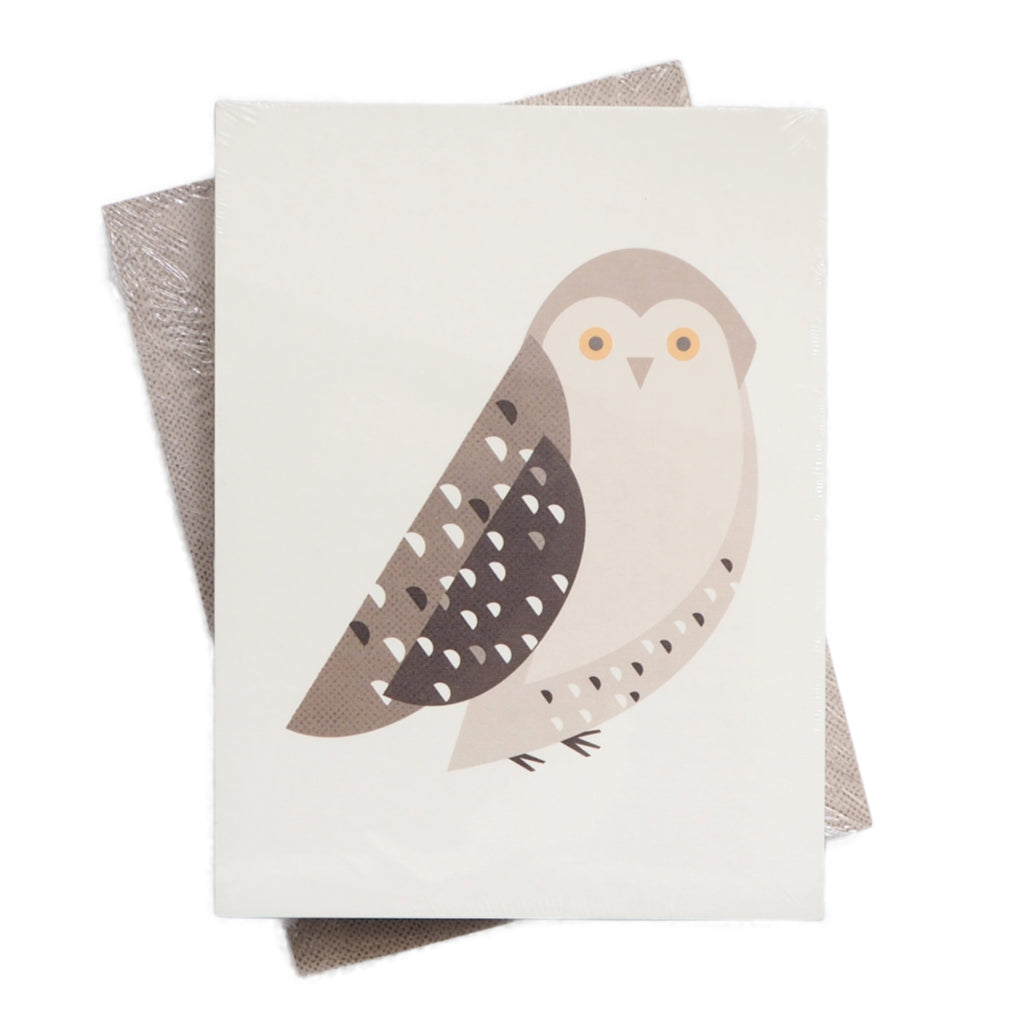 Owl Pocket Notebook - Simple, Graphic Animal Design