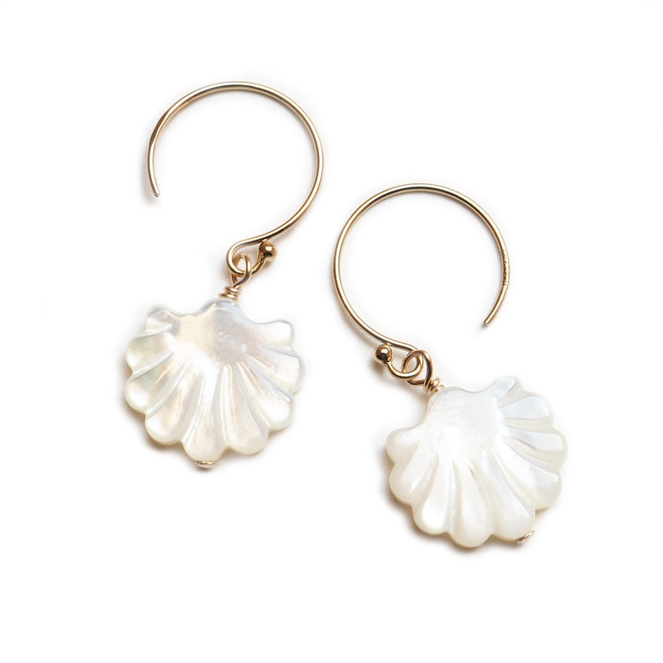 Image of Mother of Pearl Shell Earrings