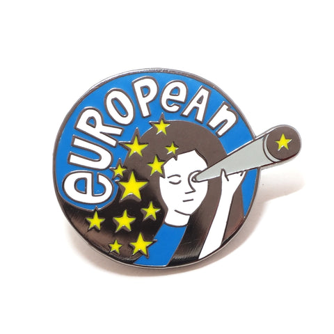 European Woman Enamel Pin