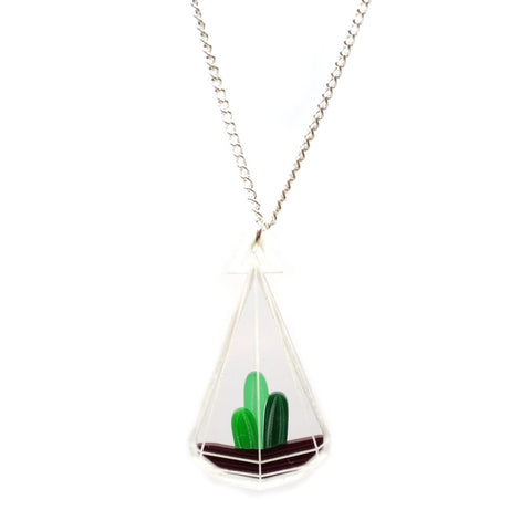 Tear Drop Terrarium Necklace