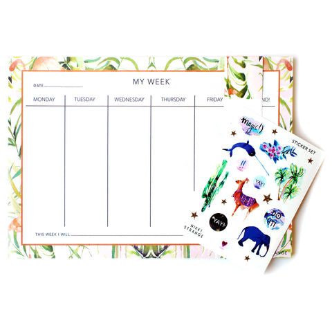 Sorbet Flamingo A4 Weekly Planner