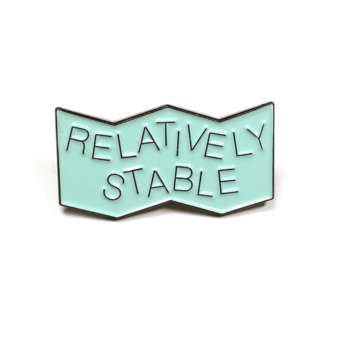 relatively stable pale blue enamel pin stay home club x american football