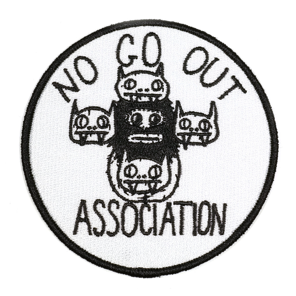 stay home club knock off no go out association iron on patch
