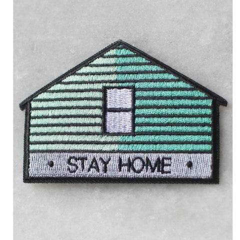 Stay Home Cabin Iron-on Patch
