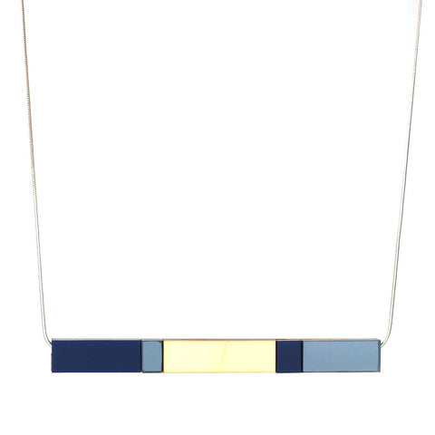 Stripe Necklace in Navy
