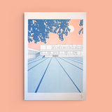A3 Strip Mall Risograph Print by ANO studio