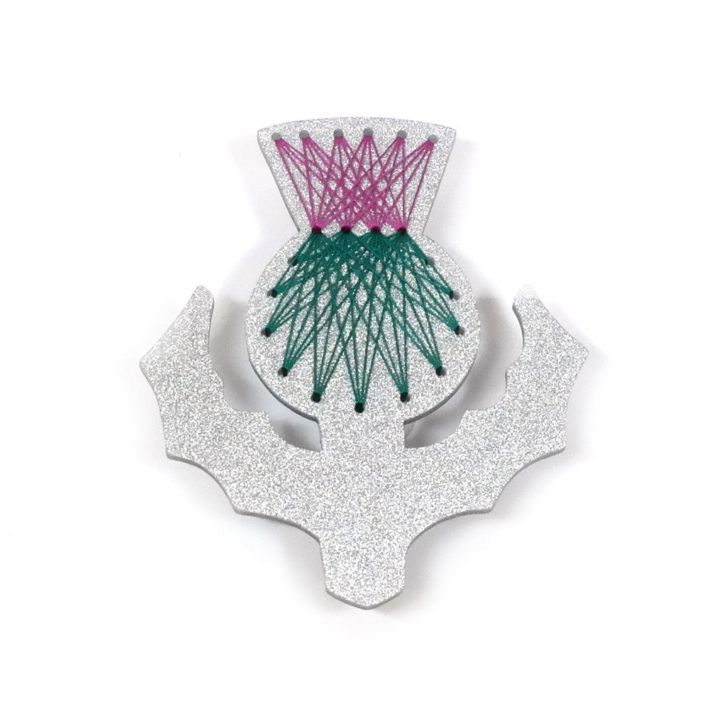 Stitched Thistle Brooch