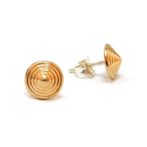 Spiral Cone Earrings in Bronze