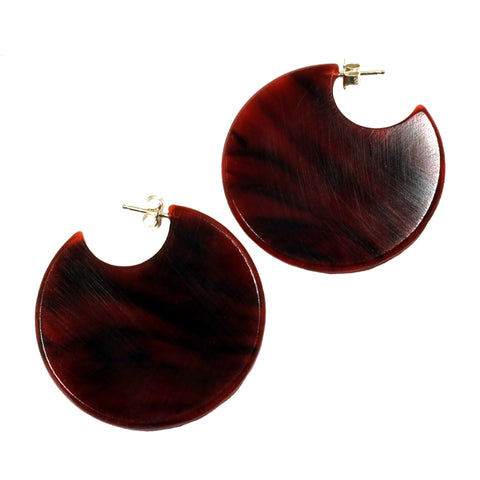 Formation Hoop Earrings in Tortoiseshell