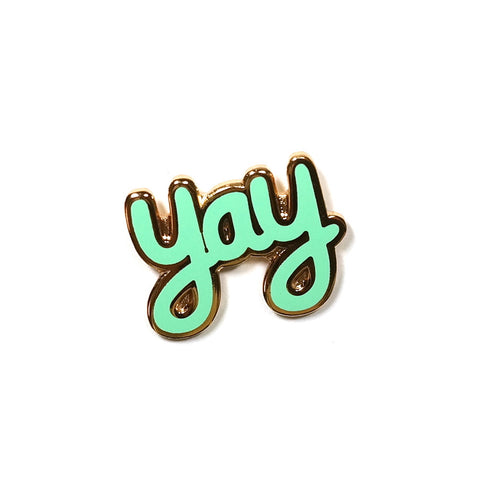 mint yay enamel pin brooch by rock cakes