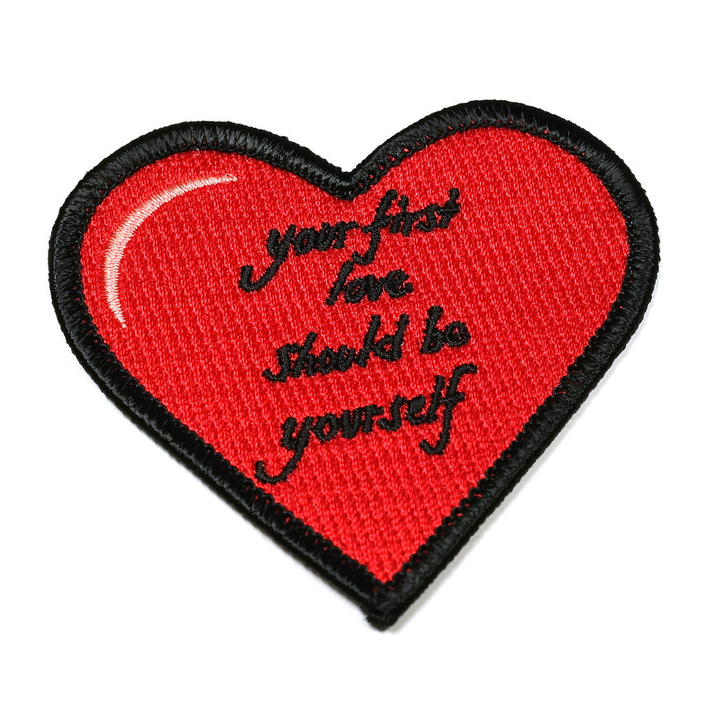 'Your First Love Should Be Yourself' Iron on Patch by King Sophie