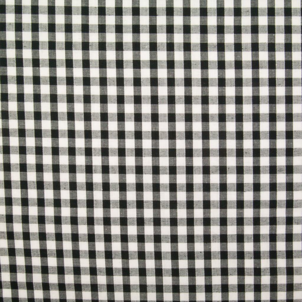 "1/4"" Corded Gingham Check - Black"