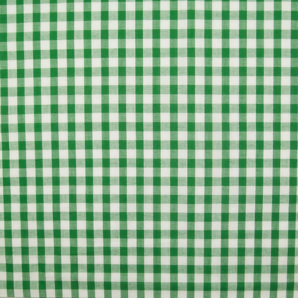 "1/4"" Corded Gingham Check - Emerald Green"