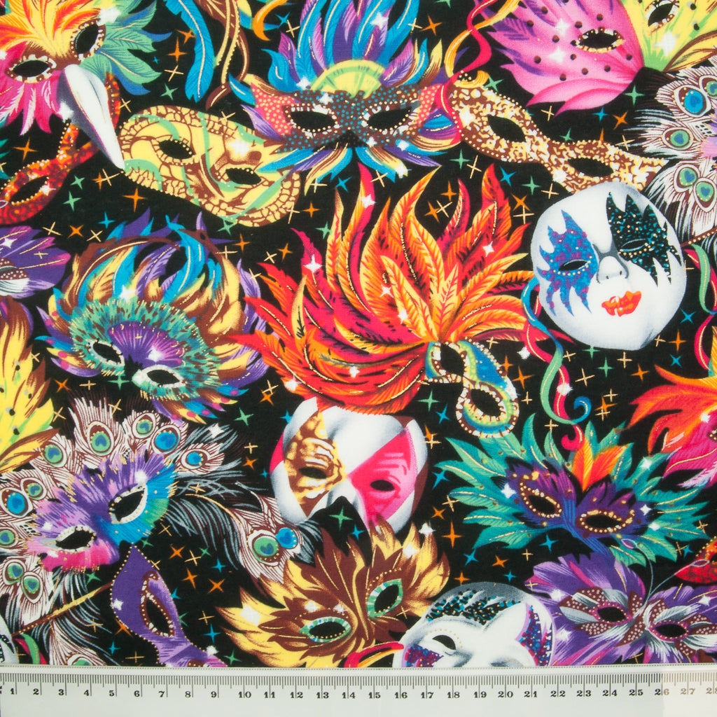Mask Carnival -  100% Cotton Fabric