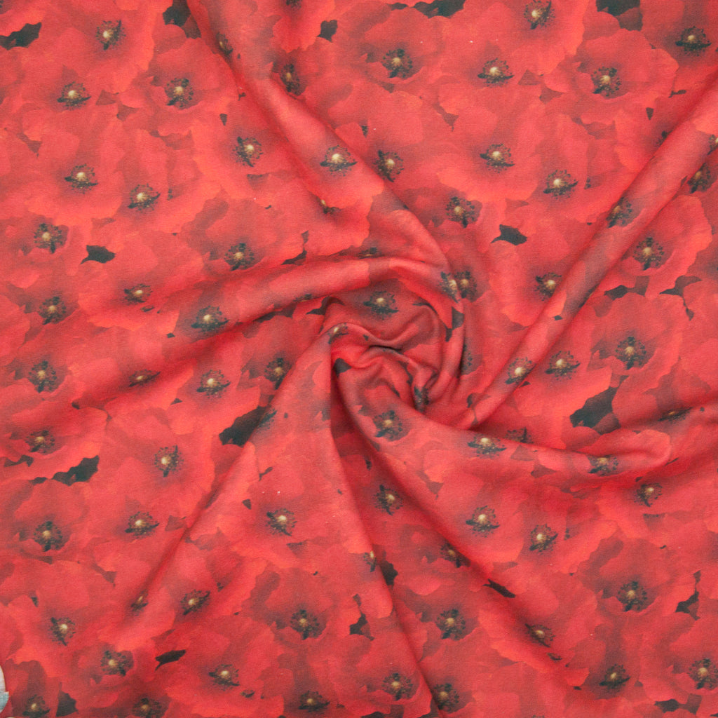 Blanket of Poppies - 100% Cotton Fabric