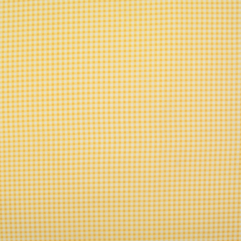 Rose & Hubble Yellow Mini Check -  100% Cotton Poplin