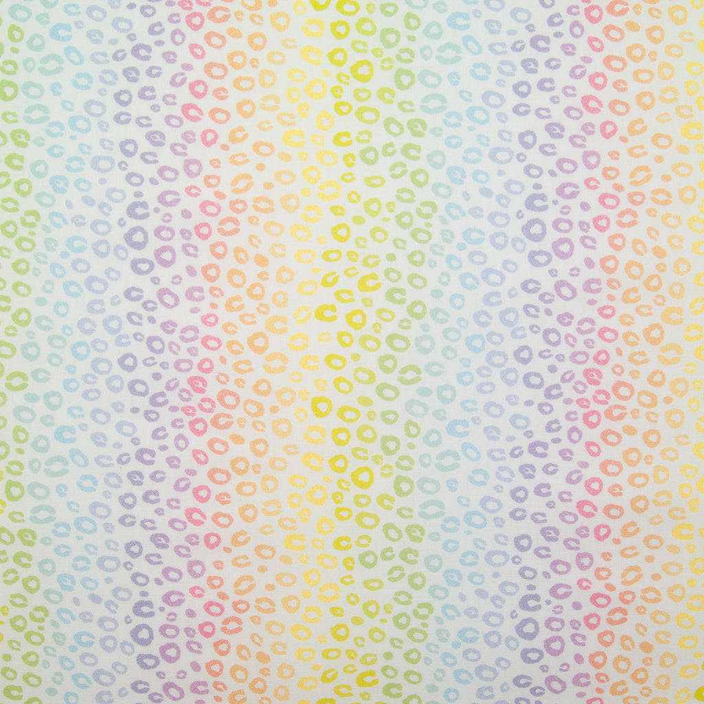 Rainbow Leopard Spots -  100% Cotton Fabric