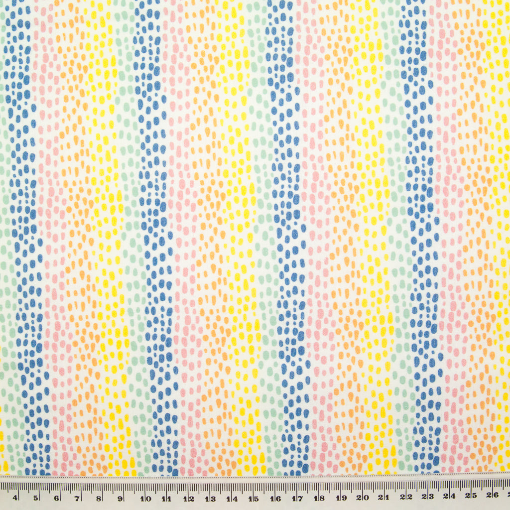 Rainbow Speckles -  100% Cotton Fabric