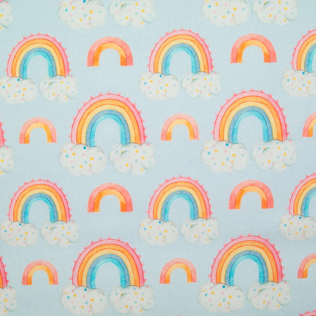 Watercolour Rainbows -  100% Cotton Fabric