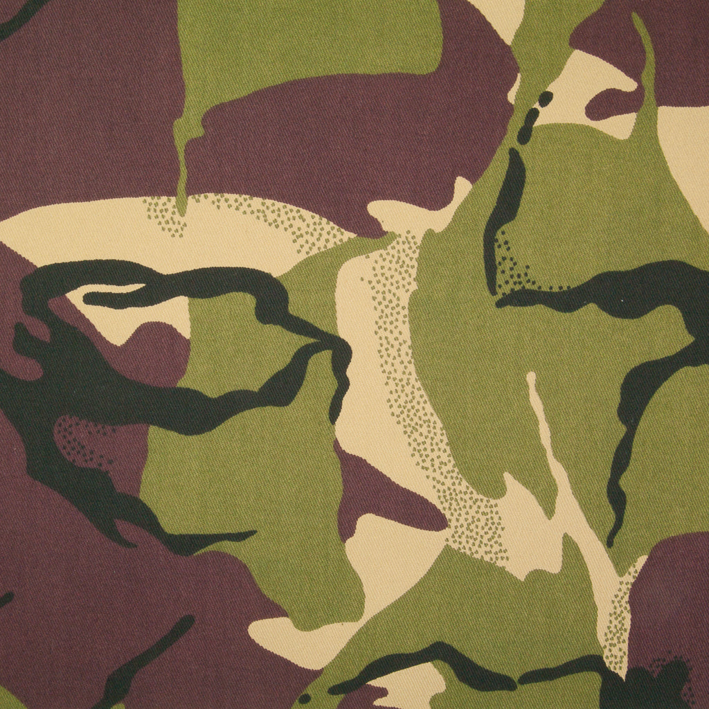 Camouflage - 100% Cotton Fabric - Green, Beige, Black