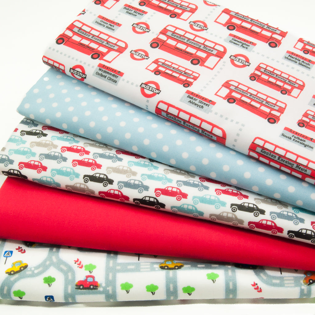 Car, Bus, Road - Polycotton Bundle
