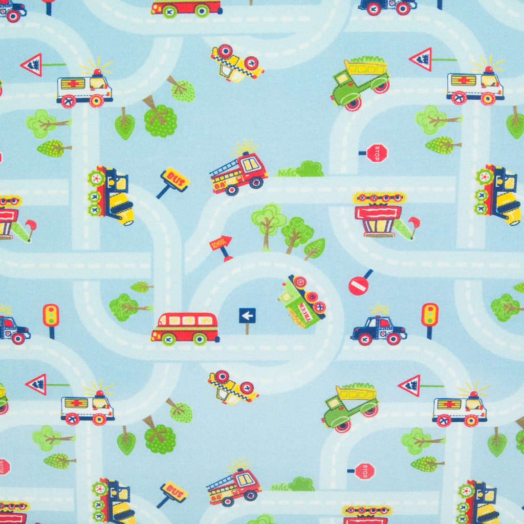 Cars on Sky- 100% Cotton Fabric