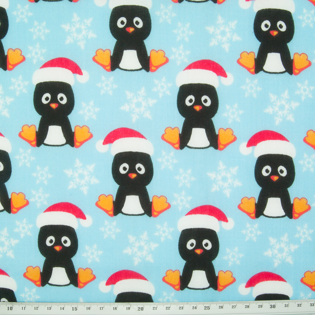 Christmas Fat Quarter Bundle - Penguin, Santa & Snowflake