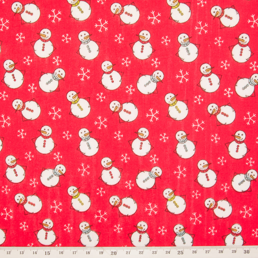 Christmas Fat Quarter Bundle - Santa, Reindeer & Snowman
