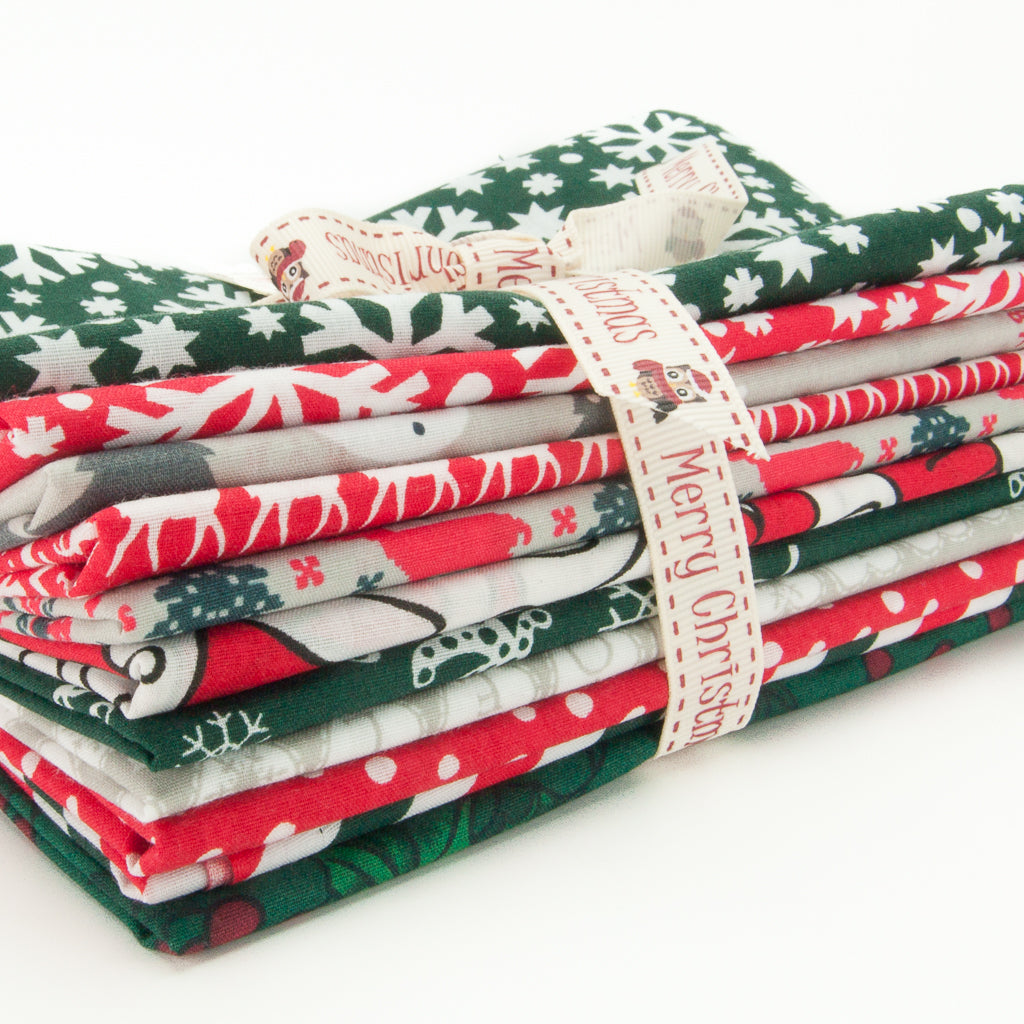 Christmas Polycotton Remnants Packs