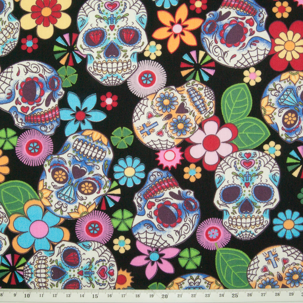 Day of the Dead by Rose & Hubble - 100% Cotton Poplin
