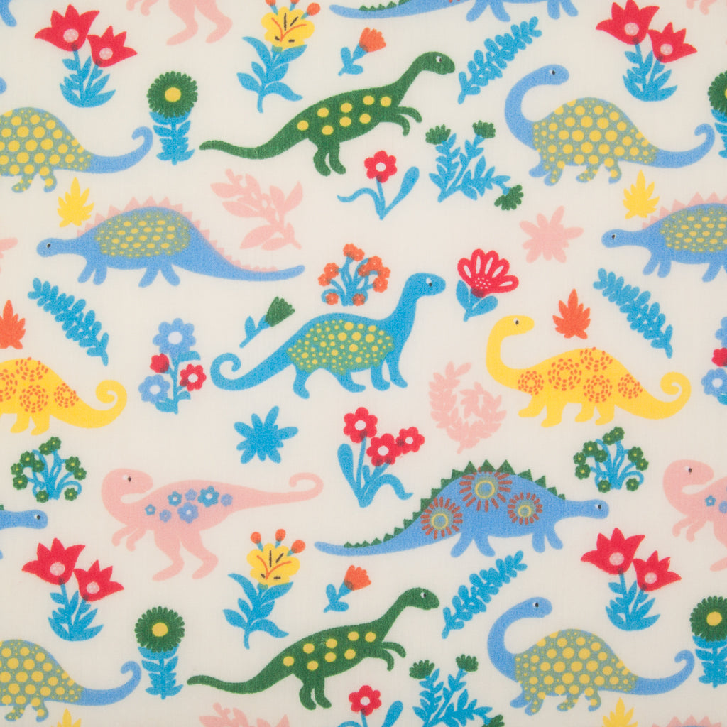 Dinosaur on Cream - Polycotton Fabric