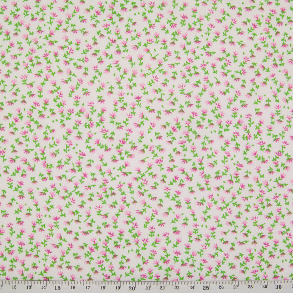 Ditsy Heather Floral - Pink Polycotton