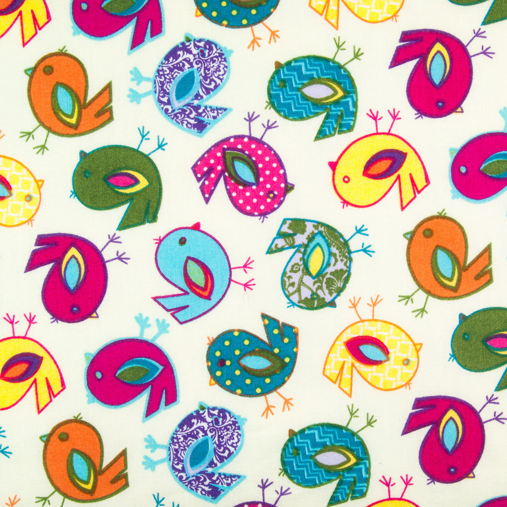Easter Chicks - Birds -  100% Cotton Fabric