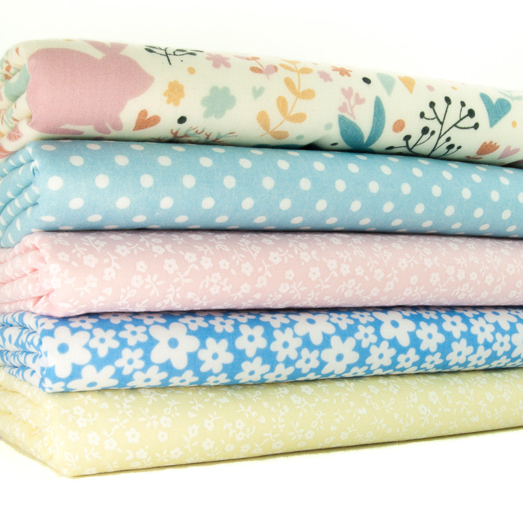 Bunnies & Flowers Polycotton Bundle