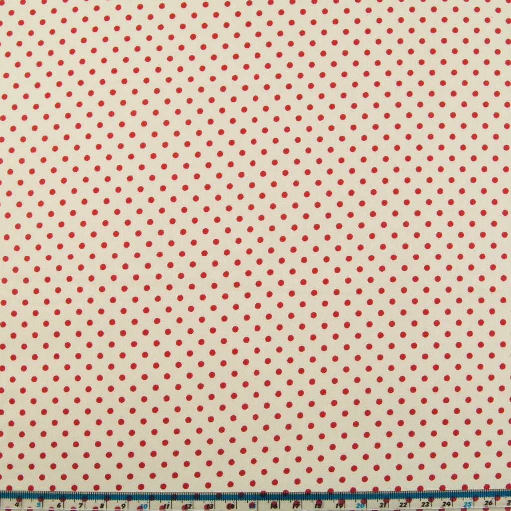 Rose & Hubble Red Mini Spot -  100% Cotton Poplin
